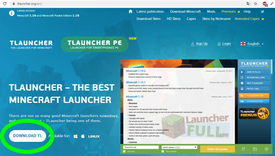 Pobierz Tlaunchera z oficjalnej strony internetowej