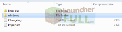 Files and folders inside the installer