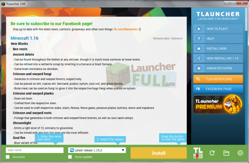 Tlauncher Minecraft