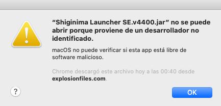 Le Launcher Shiginima SE.v4400.jar ne peut pas s'ouvrir