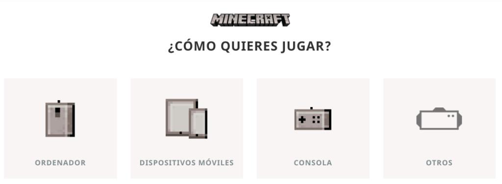 Les différents appareils pour télécharger Minecraft