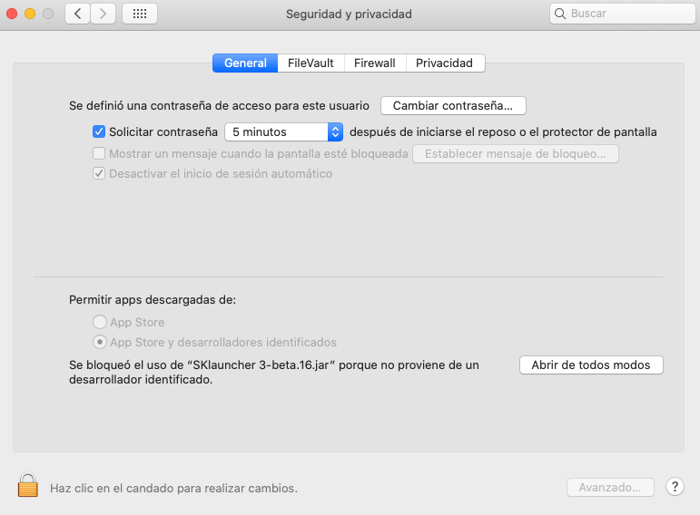 System preferences and security privacy open anyway